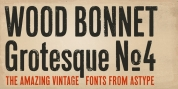 Wood Bonnet Grotesque No 4 font download