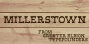 Millerstown font download
