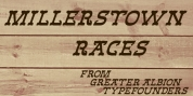 Millerstown Races font download