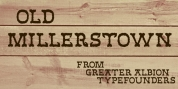 Old Millerstown font download