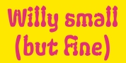 Ps Willy Small But Fine font download
