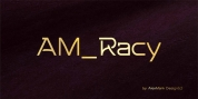 AM Racy font download