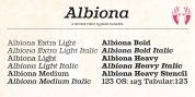 Albiona font download