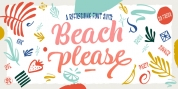 Beach Please font download