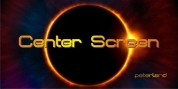 Center Screen font download
