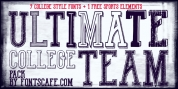 Ultimate College Team font download