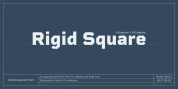 Rigid Square font download