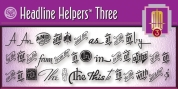 Headline Helpers Three SG font download