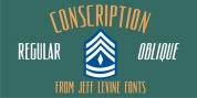 Conscription JNL font download