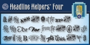 Headline Helpers Four SG font download