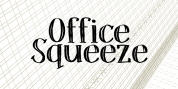Office Squeeze font download