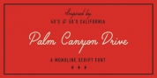 Palm Canyon Drive font download