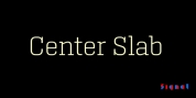 Center Slab font download