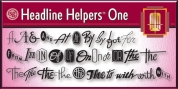 Headline Helpers One SG font download