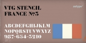 Vtg Stencil France No3 font download