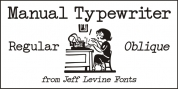Manual Typewriter JNL font download
