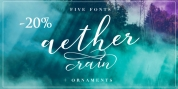 Aether Rain font download