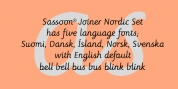 Sassoon Joined NORDIC font download