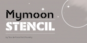 Mymoon Stencil font download