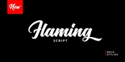 Flaming font download