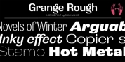 Grange Rough font download
