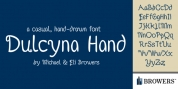 Dulcyna Hand font download