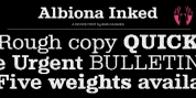 Albiona Inked font download