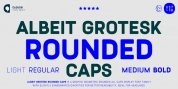 Albeit Grotesk Rounded Caps font download
