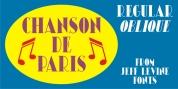 Chanson De Paris JNL font download
