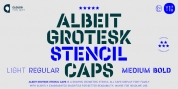 Albeit Grotesk Stencil Caps font download