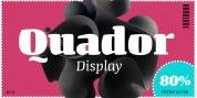 Quador Display font download