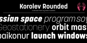 Korolev Rounded font download