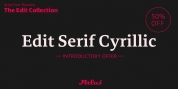 Edit Serif Cyrillic font download