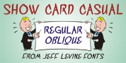 Show Card Casual JNL font download