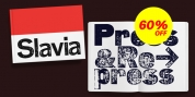 Slavia Press & Repress font download