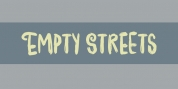 Empty Streets font download