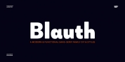 Blauth font download