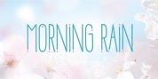Morning Rain Dot font download