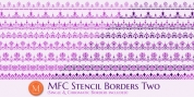 MFC Stencil Borders Two font download