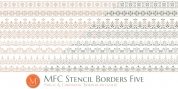 MFC Stencil Borders Five font download