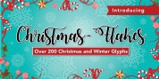 Christmas Flakes font download