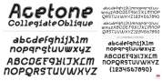 Acetone font download