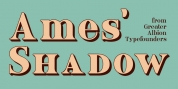 Ames' Shadow font download