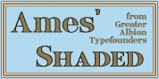 Ames' Shaded font download