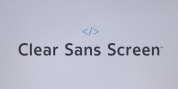 Clear Sans Screen font download