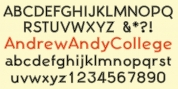 AndrewAndyCollege font download