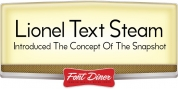 Lionel Text Steam font download