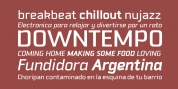 Downtempo font download