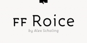 FF Roice font download