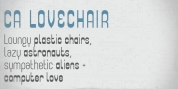 CA Lovechair font download
